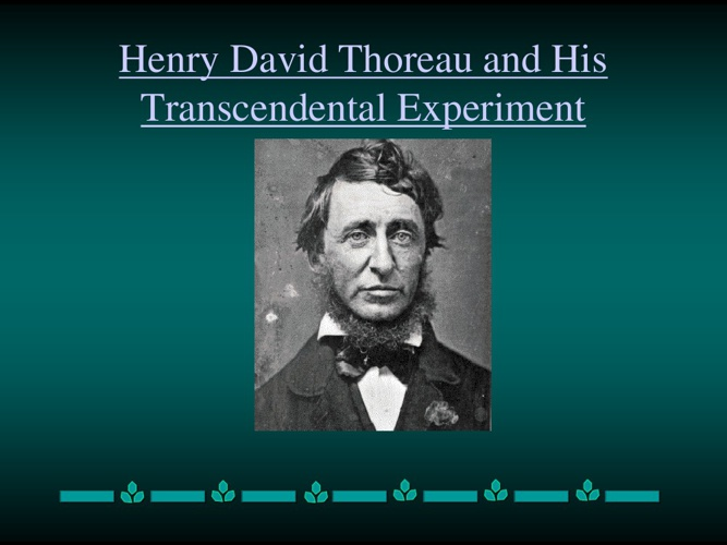 my experiment with transcendentalism essay Emerson's influence on thoreau  topics: ralph waldo transcendentalism and thoreau essay in this experiment i chose to test an idea of self-reliance by.