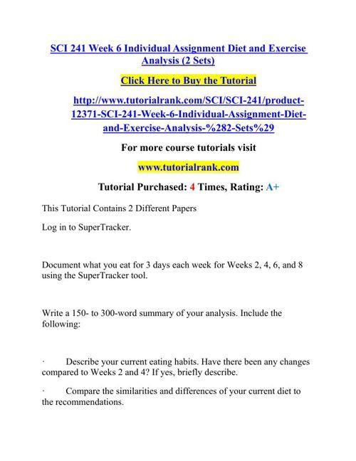 3 day diet analysis summary