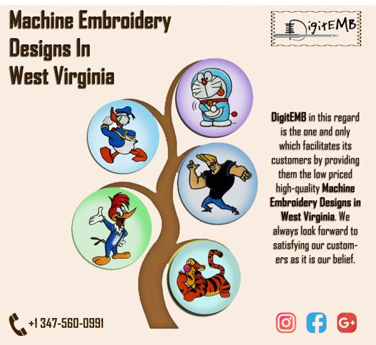 Machine Embroidery Designs in West Virginia