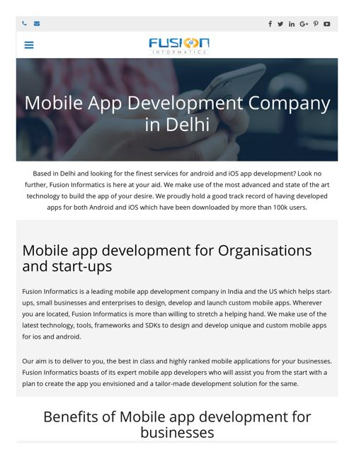 Mobile App Development Company  Delhi