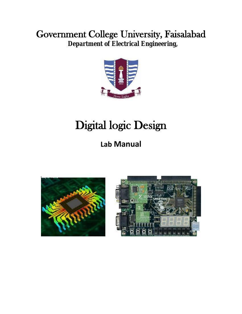 Digital Logic Design Lab Manual By It Fsd Flipsnack Electronic Circuit I