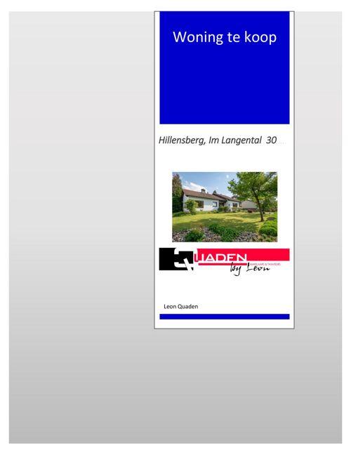 Duitsland, Hillensberg, Im Langental 30 Quaden Makelaars.doc