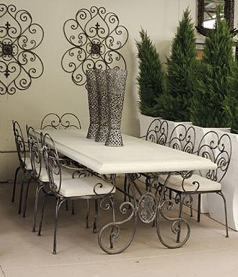 Mesas y sillas hierro forjado y aluminio fundido by pedro - Sillas de forja para comedor ...