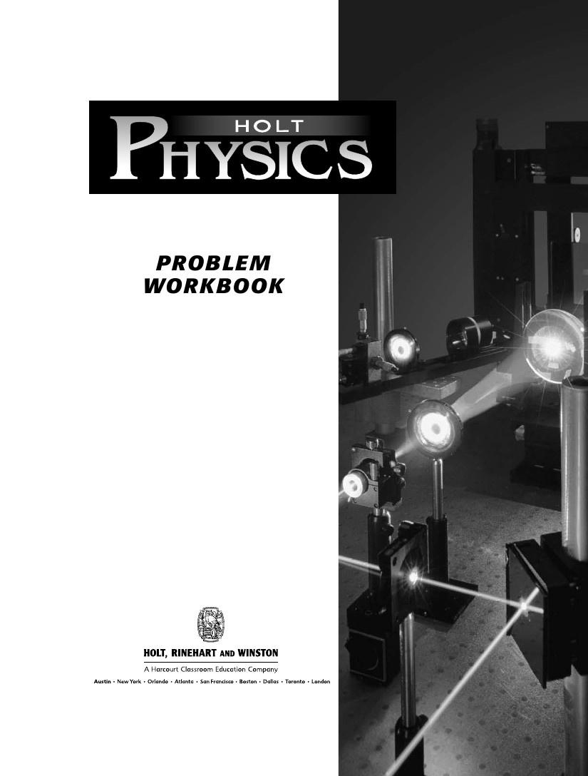 Workbooks holt practice workbook answers : 26978901-Holt-Physics-Problem-Workbook-with-Answers by Lejilesh ...