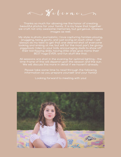 Family Portrait Session Guide 2015