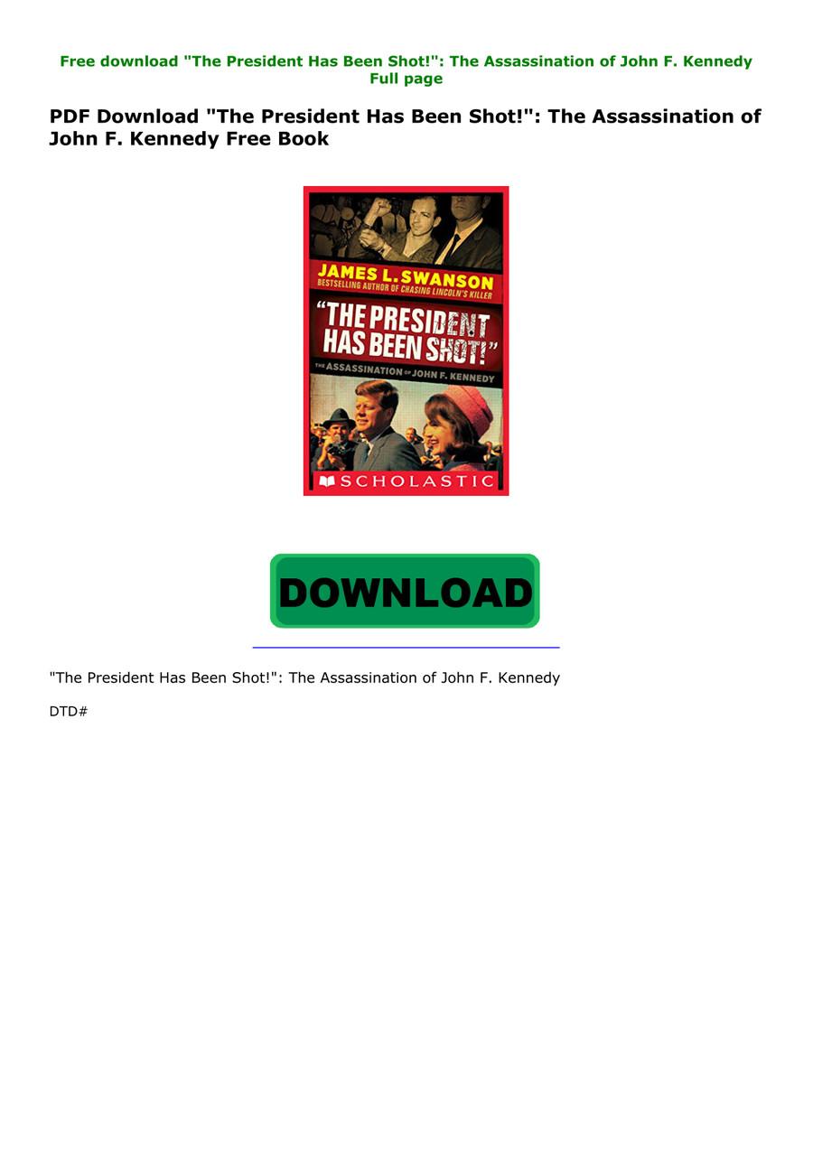 JFK Has Been Shot PDF Free Download