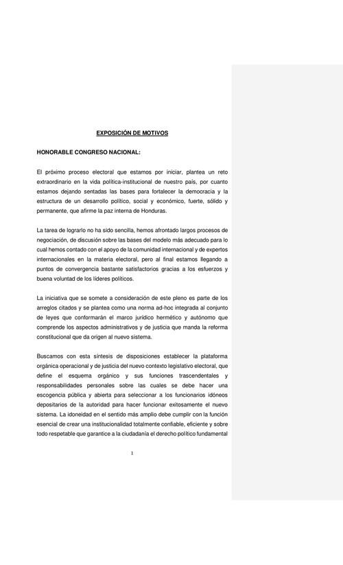 Acuerdo De Lima Informe De Observación Electoral Hn 2017