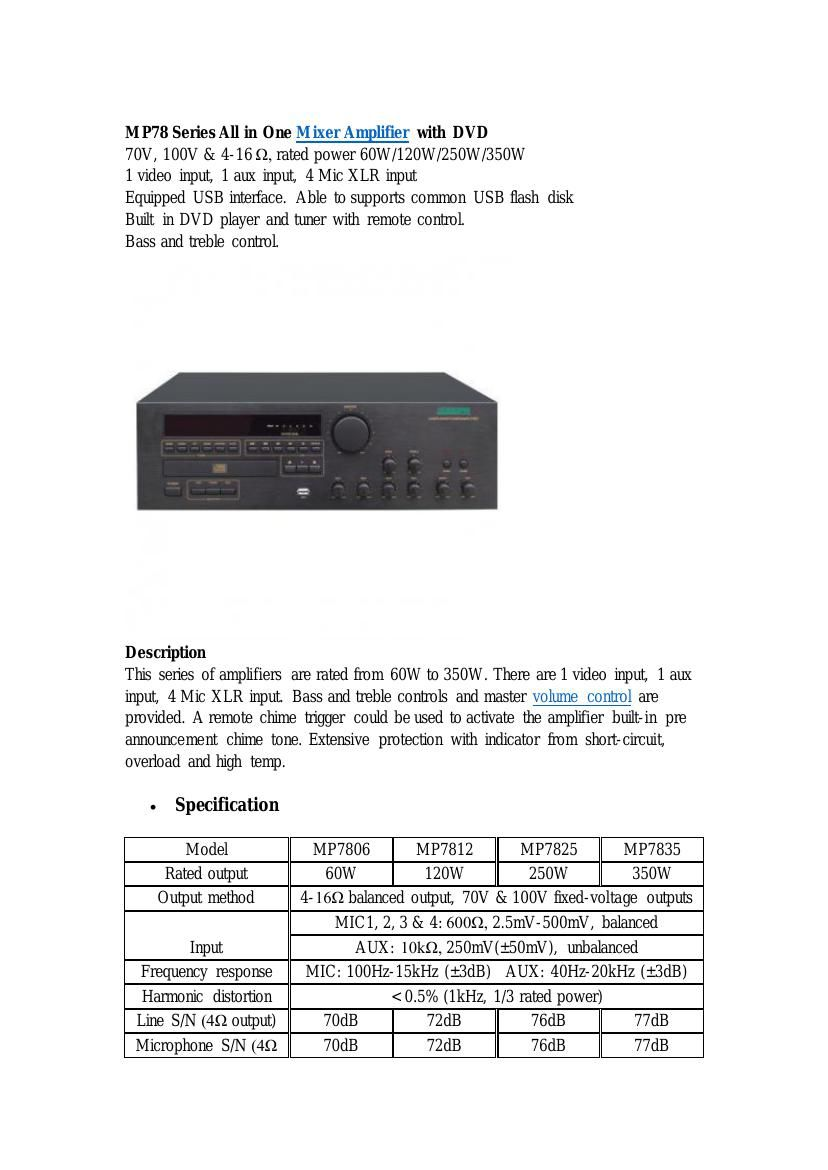 Mp78 Series All In One Mixer Amplifier With Dvd By Williamwong Figure 1 Balance Input Pre Microphone Circuit Next