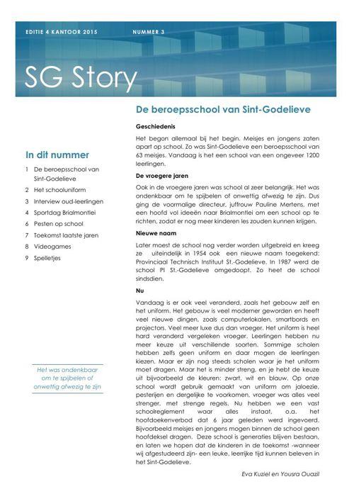 SG Story 4 KA 2015 by Gwen Graindorge - Flipsnack