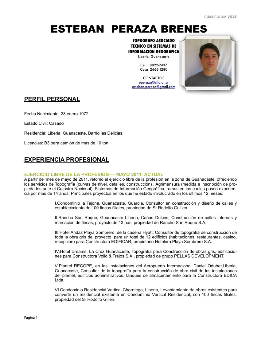 Topografo Esteban Peraza by Esteban Peraza... - Flipsnack