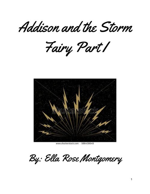 Addison and the storm fairy part 1