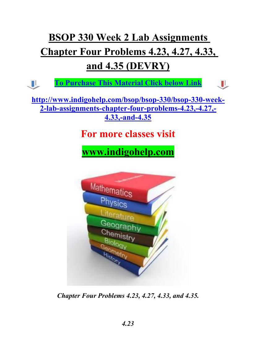 psy 330 week 2 assignment final Tutorialrank provides psy 330 final exam guides we offer psy 330 final exam answers, psy 330 week 1,2,3,4,5, individual and team assignments dq.