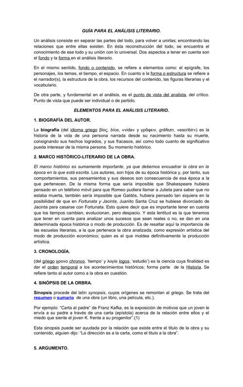Guia Para El Analisis Literario By Deyvid Calzada Flipsnack