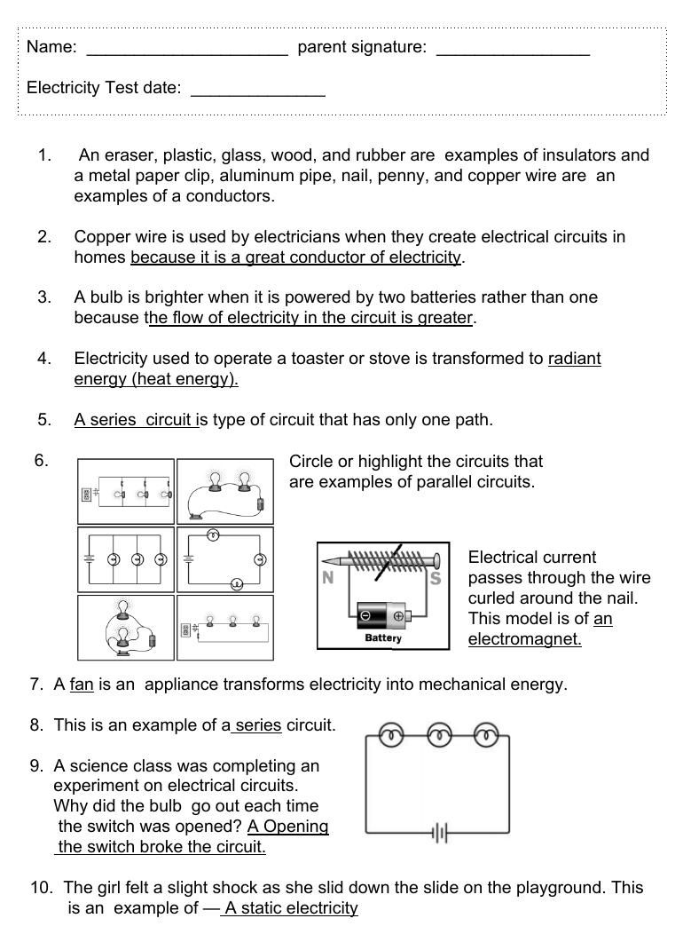 43 Electricity Study Guide By Heather Theakston Flipsnack Series Circuit
