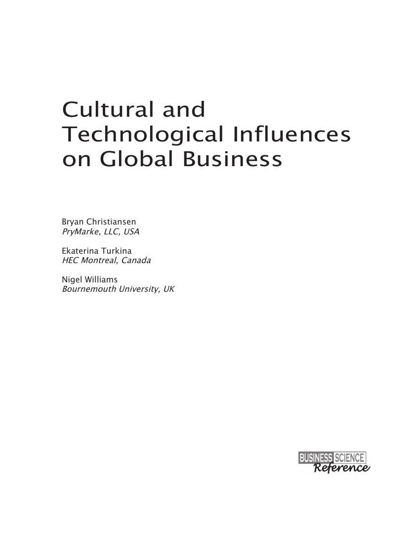 cultural influences on international business