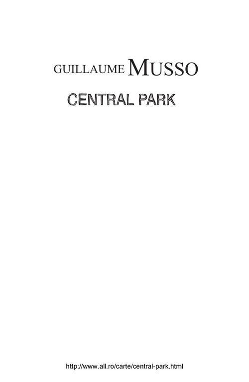 GUILLAUME MUSSO PDF CENTRAL PARK GRATUIT TÉLÉCHARGER