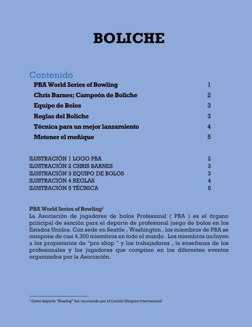 las reglas de boliche