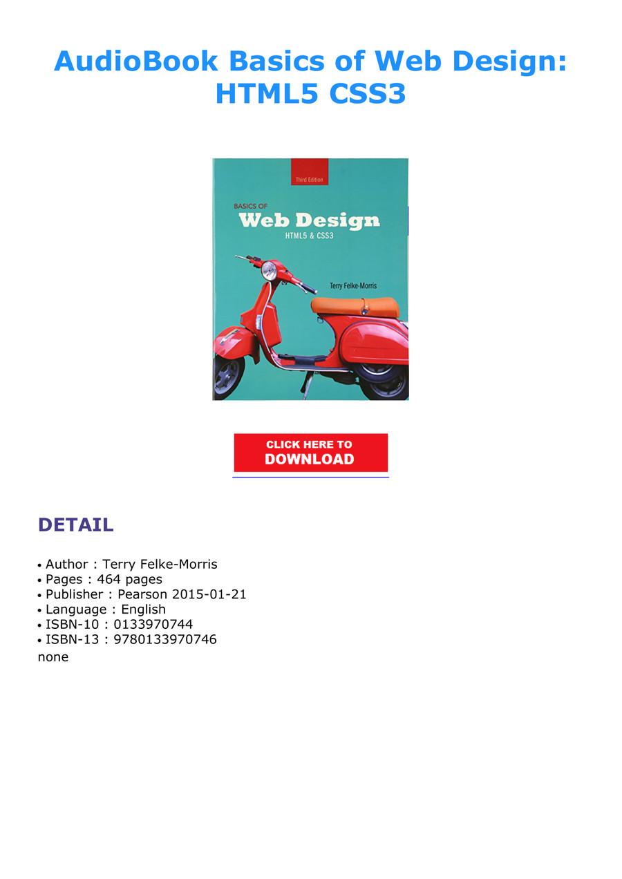 Audiobook Basics Of Web Design Html5 Css3 By Apla Flipsnack