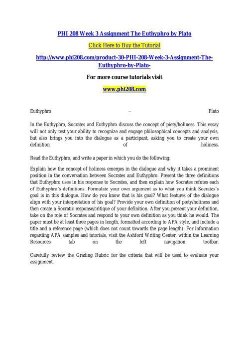 euthyphro piety essay