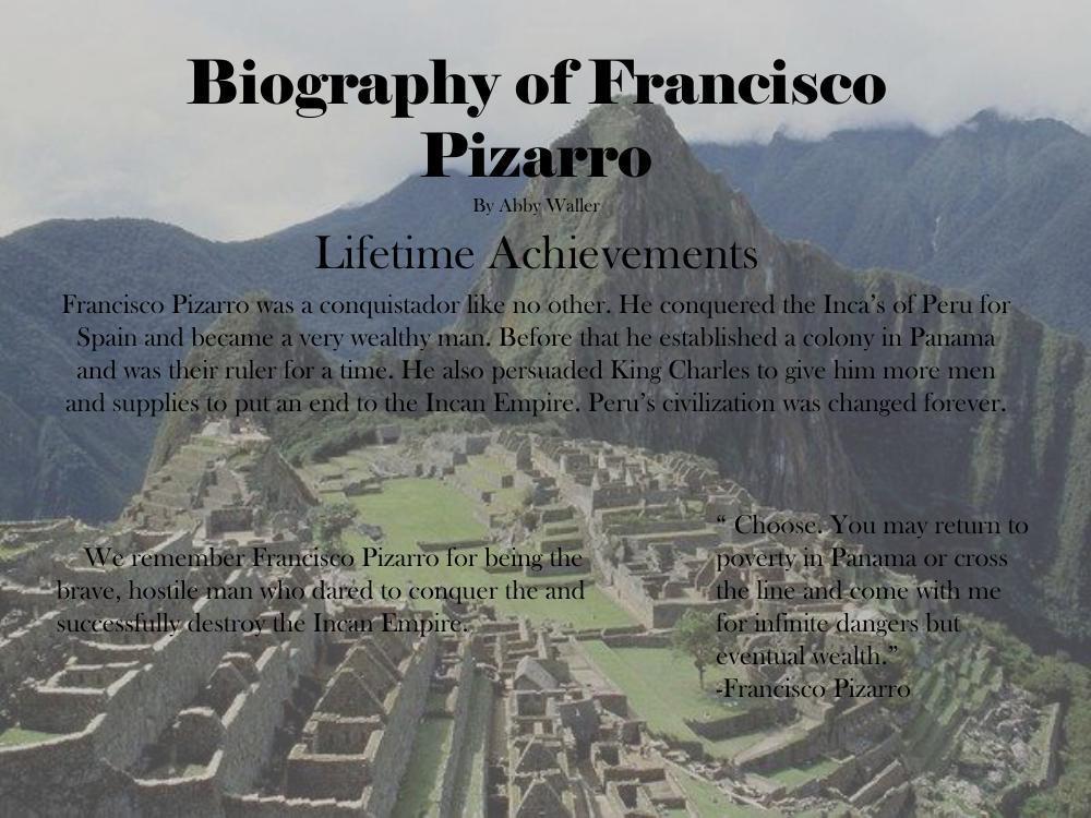 francisco pizarro achievements