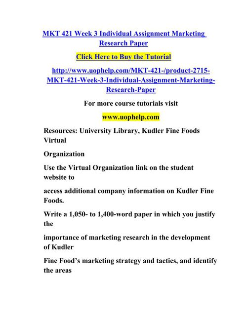 kudler fine foods marketing research paper mkt 421