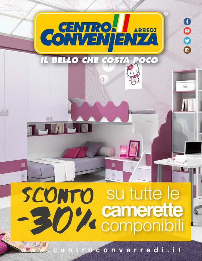 Centro convenienza arredi camerette primavera 2016 by for Convenienza arredi