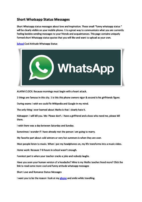 Funny Whatsapp Status By Flipsnack