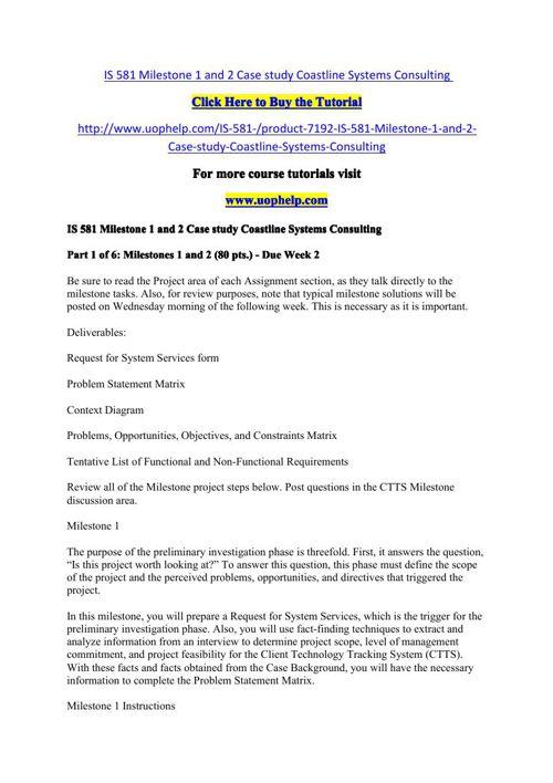 ctts case study milestone 2 solution