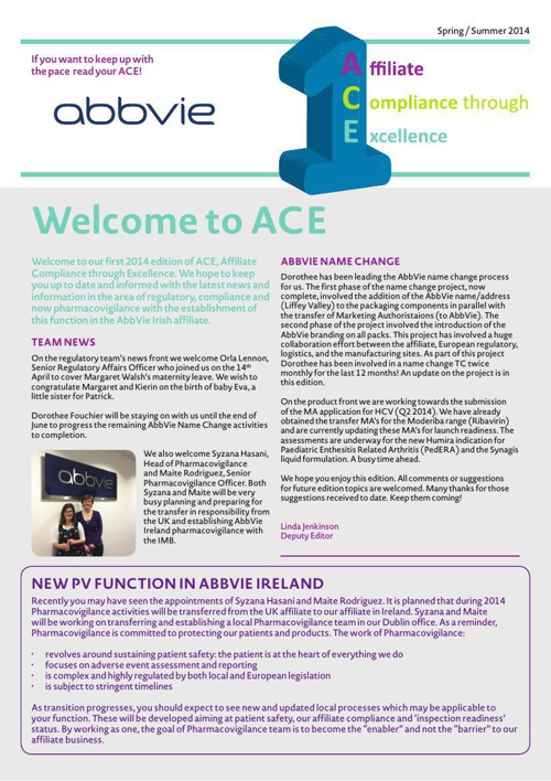 F15-118054 AbbVie ACE E-Publication by Snap Citywest - Flipsnack