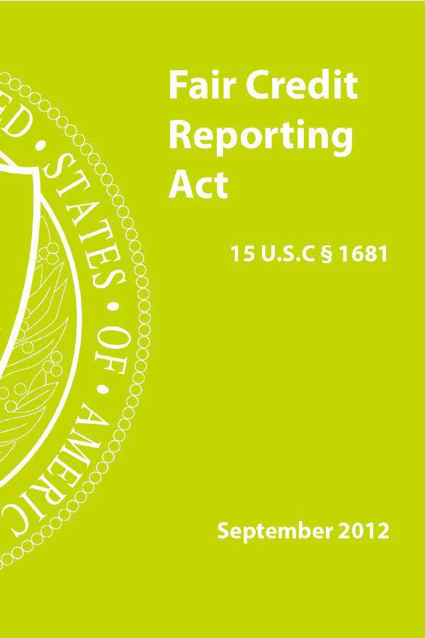 the fair credit reporting act 1970 The fair credit reporting act is supposed to protect you  fair credit reporting act: common violations and your rights  the fair credit reporting act of 1970.