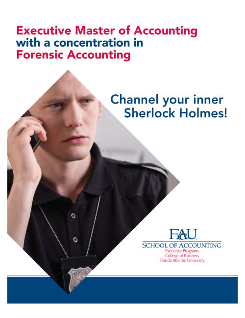 fau masters in forensic accounting program brochure by fau