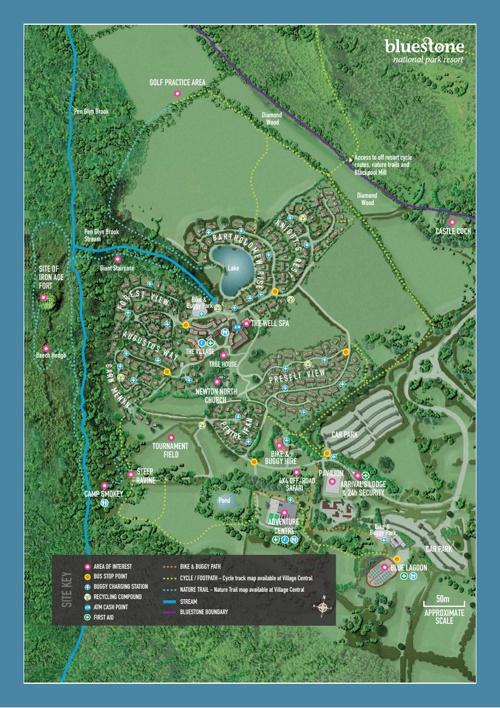 Bluestone Wales Map Bluestone Wales Resort Map by simon greenfield   Flipsnack