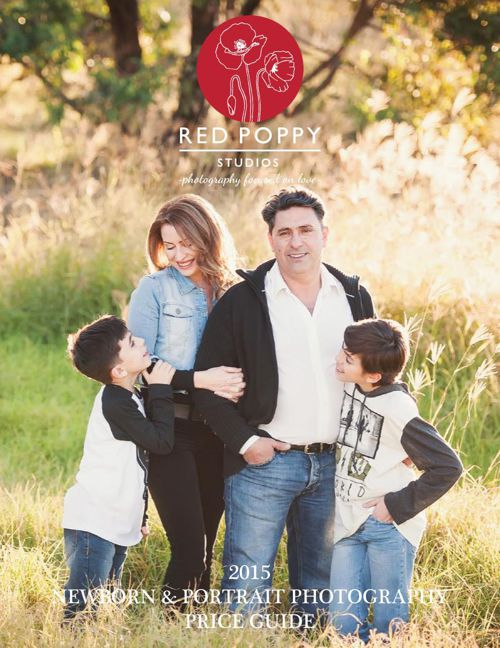 Red Poppy Studios Portrait Price Guide 2015
