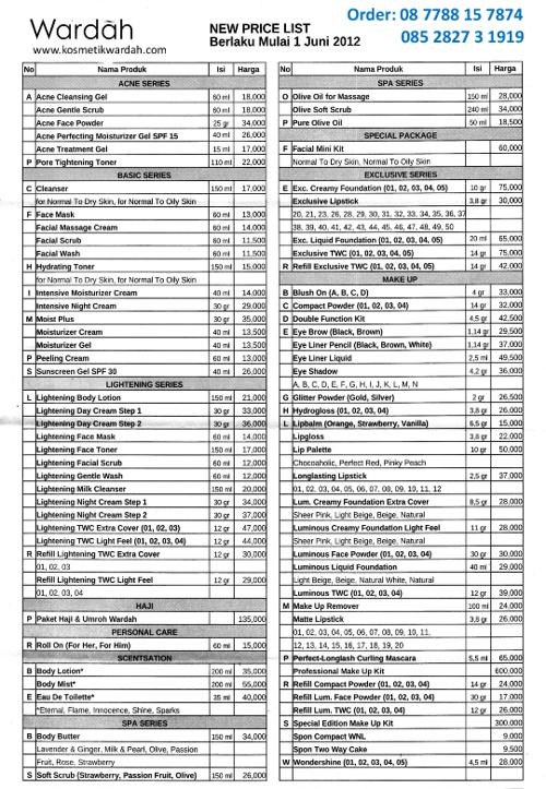 Daftar Harga Wardah Kosmetik By Hari Sanusi Muhammad Flipsnack