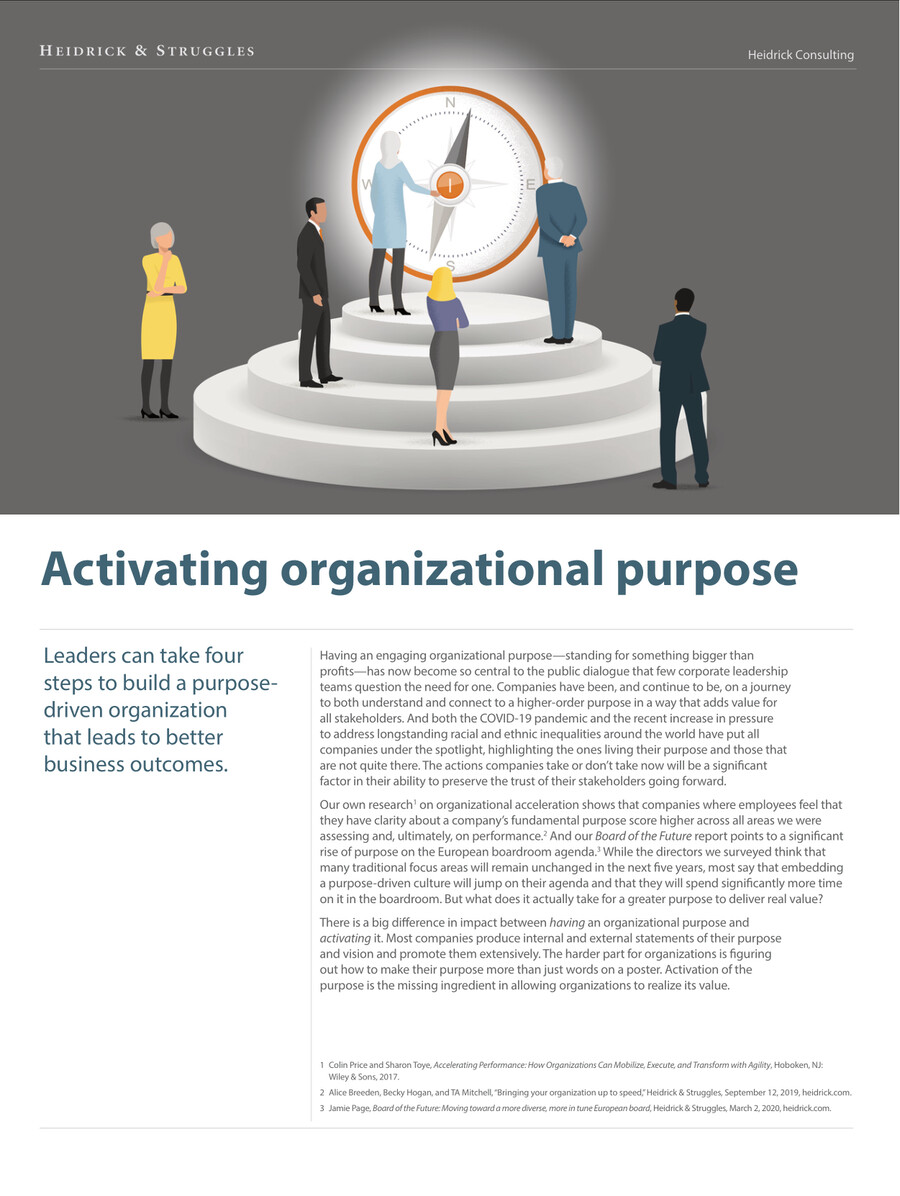 Activating organizational purpose by FDF6D86EFB5 - Flipsnack