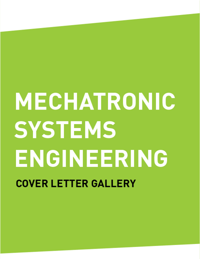 Cover Letter Gallery (MECHATRONIC SYSTEMS ENGINEERING by SFU Work ...