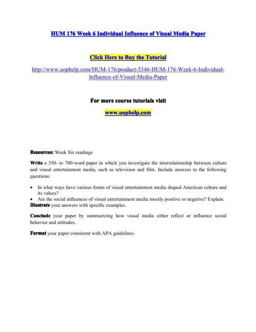 visual media short essay