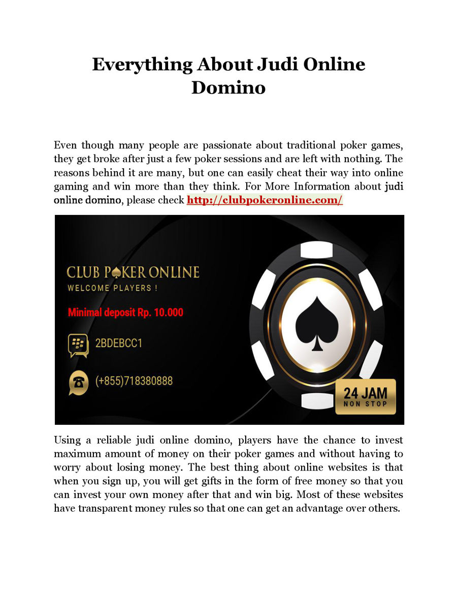 Everything About Judi Online Domino By Louisbryan Flipsnack